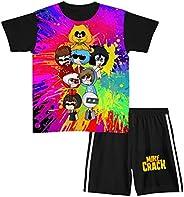 Aiyuheping Mikecr-ack - Conjunto de ropa de manga corta para niños, 2 piezas, ropa deportiva para niñas y niño