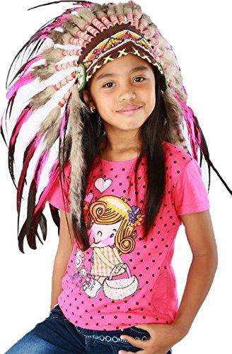 Indischer Kopfschmuck für 5 bis 8 Jahre Alten Kind/Kinder, Hut, Warbonnet Feder ()