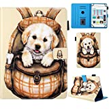 YKTO Lovely Cases Universal 7 inch Tablet Full Body Protective Cover for All-New Amazon Fire 7 2017, Samsung Galaxy Tab, Google Nexus, Asus, Android, Epad, Apad, LIFETAB, Hudl, MyTablet - Dog