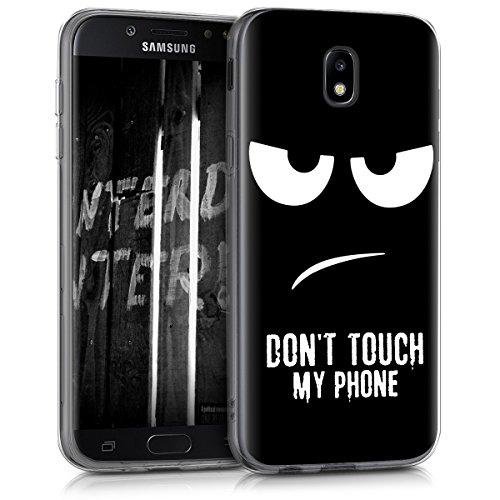 kwmobile Samsung Galaxy J5 (2017) DUOS Hülle - Handyhülle für Samsung Galaxy J5 (2017) DUOS - Handy Case in Weiß Schwarz
