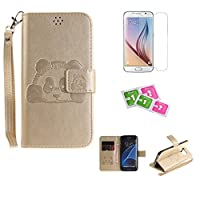 Samsung A5000/Galaxy A5(2014) Case, JGNTJLS [New Style for SS/AW] [with Free Tempered Glass Screen Protector and Cleaning Paper] Cute, Stylish, Embossing-Pattern(Pure-Colorful, Artificial-Wrinkle Design), PU Leather-Shell(Silky Touch Fully), Internal-TPU(