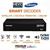DECODER MEDIASET PREMIUM PLAY WIFI HD LAN TV LETTORE CERTIFICATO PREMIUM HD