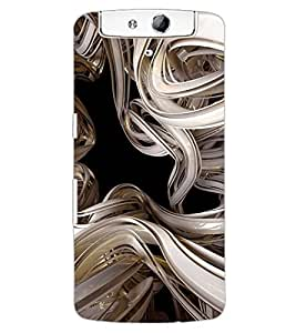 ColourCraft Abstract Image Design Back Case Cover for OPPO N1