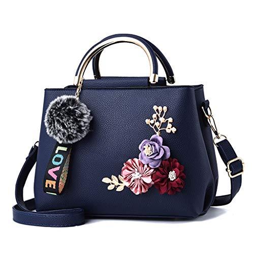 9a2af6a9f7 JAGENIE Women s Handbag Flower Single Shoulder Bag Crossbody Messenger Hobo  Tote Top Handle Bags