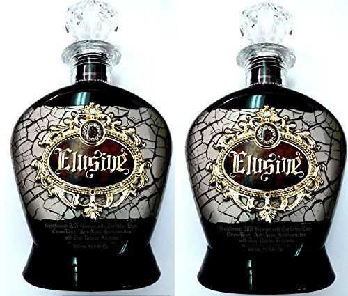 Designer Skin Tanning Bed Lotion (Lot of 2 Elusive 50x Bronzer Indoor Dark Tanning Bed Lotion Designer Skin by ELUSIVE)