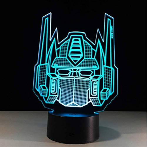 Nachtlicht Transformers Shape 3D Night Light Baby Led Acrylic Remote Switch Table Lamps Usb Bedroom Sitting Room Light Desk Lamp