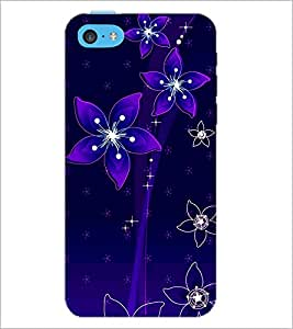 PrintDhaba Floral Pattern D-1237 Back Case Cover for APPLE IPHONE 5C (Multi-Coloured)