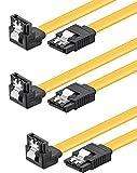 baytronic SATA Kabel Set 3x 0,5m mit Verriegelung gewinkelt