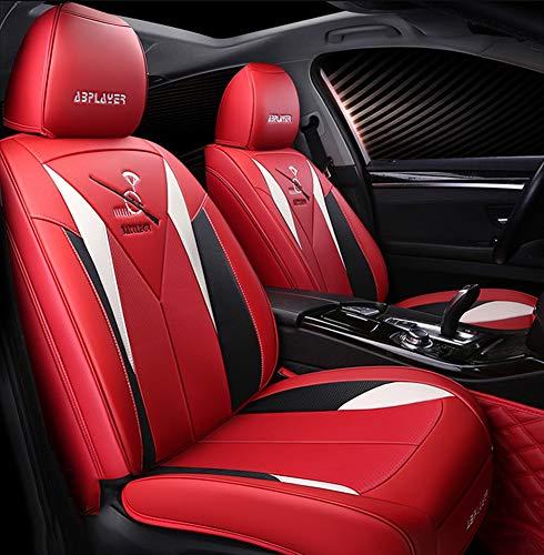 Neue Autositzbezug Nahtlose All-Inclusive Diamant Vollleder Vier Jahreszeiten Universal Sitzkissen Kia Civic Crv Binzhi Accord 10. Generation XRV Lingpai Autositzkissen,Red Ford Taurus Stereo