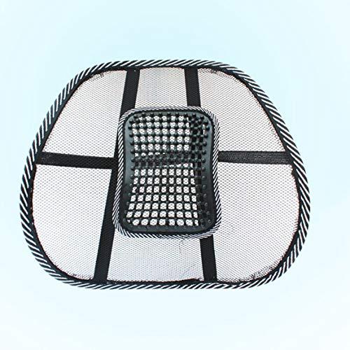 Funnyrunstore Coussin de taille pour massage de voiture pratique Eté Cool creux Coussin de voiture respirant Air Net Support de taille confortable (Noir)