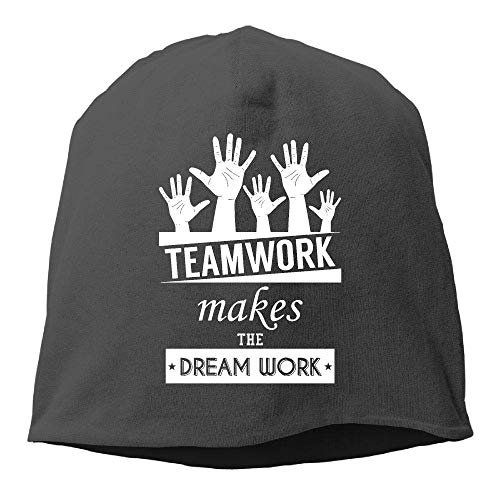 Men's and Women's Perfect Knitted Caps, Teamwork Makes Dream Work Beanie Hat for Mens & Womens Beach hat (Infant Baseball Jersey)