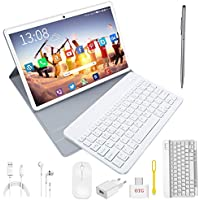 Tablet 10 Pulgadas 4G/WiFi Android 9.0 Pie, DOUDOUGO Ultrar-Rápido Tablets 4GB RAM + 64GB ROM/256GB Escalable | Laptop Convertible de Oficina | Dual SIM -8000mAh Bluetooth GPS Type-C 5+8.0MP -Oro