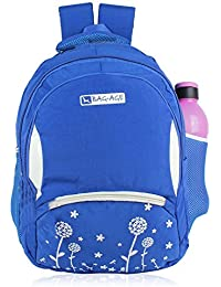 Bag-Age Collage Backpack, School Bag With Rain Cover (L) (Wrinkle 2)