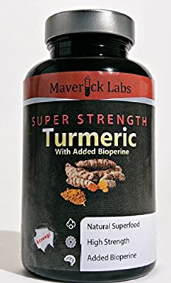 Organic Turmeric With Bioperine (For Greater Absorption) 700mg - 90 Capsules - UK Made - High-Potency by Maverick Labs
