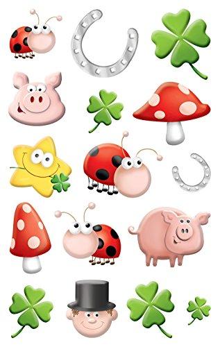 Avery Zweckform 56098 Deko Sticker Emoticon Glück 32 Aufkleber