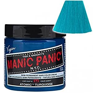 Manic Panic Classic Cream Semi-Permanent Vegan Hair Color - ATOMIC TURQUOISE