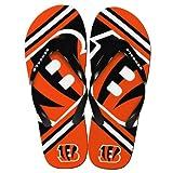 Cincinnati Bengals NFL Unisex Big Logo Flip Flops Select Size: Large (M 9-10)