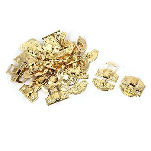 sourcingmap® Dekorative Metall 29mmx27mm Box Lock Überfalle Toggle Latch Fangen Gold Ton 20Stück DE de - Gold-ton-hardware Lock