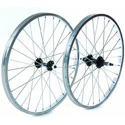 Tru-build Wheels RGH720 - Rueda delantera para bicicleta (20 x 1,75 pulgadas), color plateado