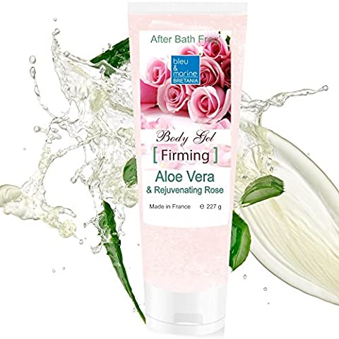 100% Natural Gel d'Aloe Vera à la Rose - Fermeté et Hydratation Intense Visage & (Aloe Gel Di Raffreddamento)