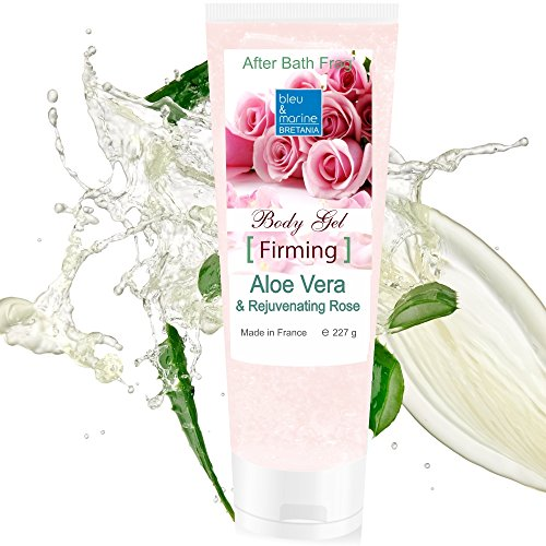100% Rein natürlich Konzentrat: Aloe Vera Gel & Rose für Gesicht, Haare & Körper 227 g -