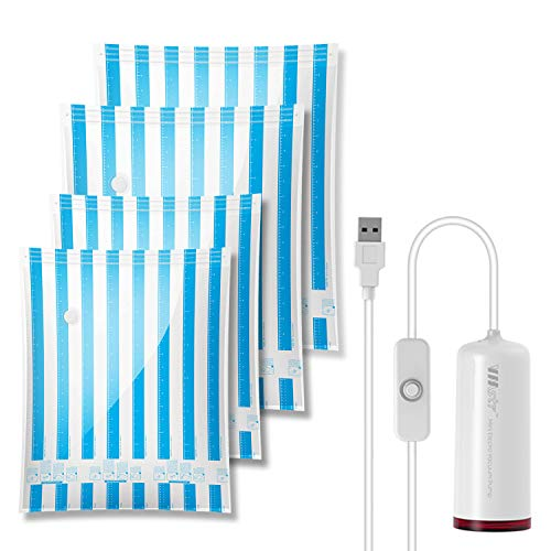 VMstr Vakuum Aufbewahrungsbeutel für die Reise mit USB Elektropumpe, Medium Small Space Saver-Taschen für die Reise und den Heimgebrauch (USB Elektrische Pumpe)