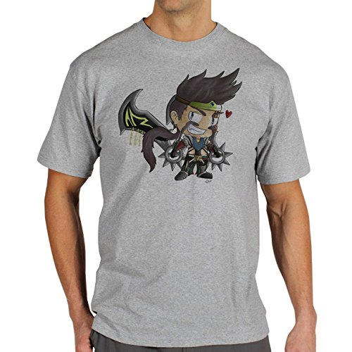 League Of Legends Champion Character Art Draven Picture Herren T-Shirt Grau
