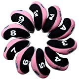 Andux 10pcs/set Golf Iron Head Covers with Number Tag Pack of 10