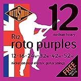 Rotosound Roto Purples Jeu de cordes pour guitare électrique Nickel Tirant medium/heavy (12 16 24 32 42 52)