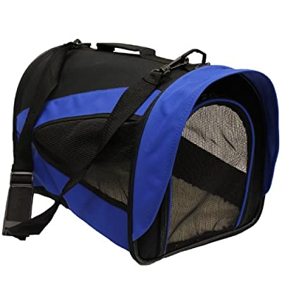 Mool Lightweight Fabric Pet Carrier Crate with Fleece Mat, 43 x 28 x 29 cm