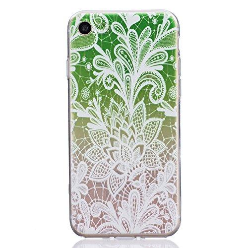 Pour iPhone 6 6S (4,7 Zoll) Coque,Ecoway Housse étui en TPU Silicone Shell Housse Coque étui Case Cover Cuir Etui Housse de Protection Coque Étui –carthame Gradient vert