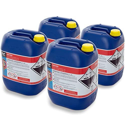 Höfer Chemie 4 x 25 kg Chlor flüssig - mit 13 bis 15{8cde85948f8da3585c9aab4c3b9e9c467b3a8718955eab0af9d9379b8a2c4d67} Aktivchlorgehalt - Wasserdesinfektion für Pools