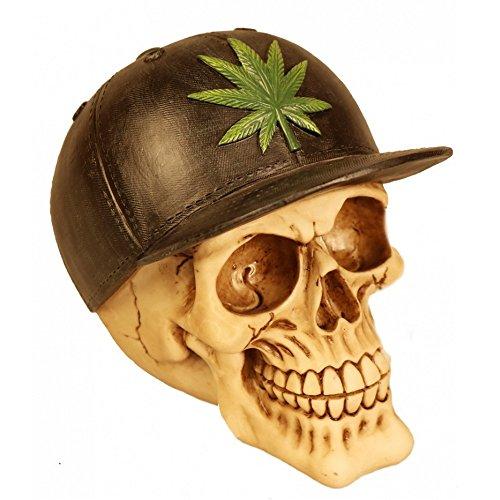 Deko Totenschädel Totenkopf Skull Cannabis Ganja Marihuana Kiffen -