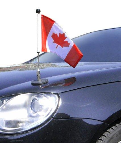 DIPLOMAT magnetisch haftender Autofahnen-Ständer 1 Kanada mit Super-Magnet für Ihre Autoflaggen - Auto Fahne & Flagge (Autofahne Kanada)
