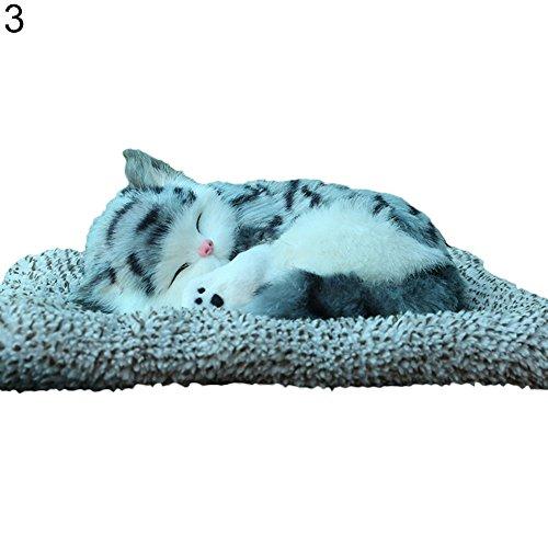Ukallaite Verbesserung Unserer Life Simulation Carbon Katze Plüsch Teppich Pad Luftreiniger Auto Home Decor Supplies, 3#, Einheitsgröße