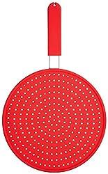 Colourworks Silikon-Spritzschutz, 28 cm - Rot