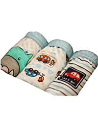 Meijunter 3pcs Organic Cotton Children Fashion underwear ropa interior Baby Bebé boys/Girls Cute Cartoon Boy Baby Bebé Car #70: Age for 5-7 years (120cm)