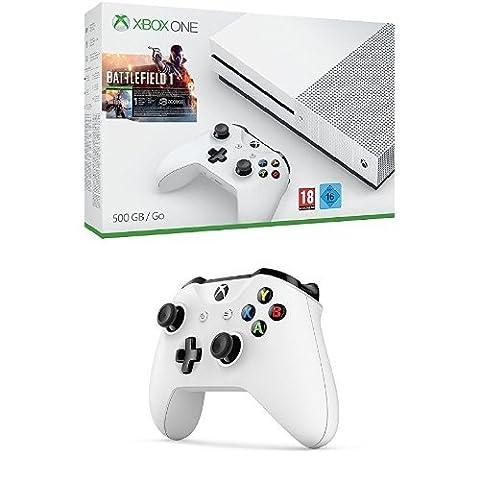 Pack Console Xbox One S 500 Go + Battlefield 1 + Deuxième manette