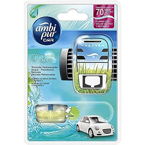 Ambi Pur Car Deodorante per Auto, Starter Kit, Acqua –