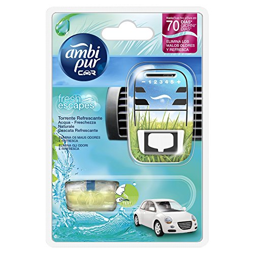 Ambi Pur Car Deodorante per Auto, Starter Kit, Acqua - Freschezza Naturale, 7 ml