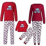 Riou Weihnachten Set Baby Kleidung Pullover Pyjama Outfits Set Familie Nachtwäsche Schlafanzug PJS Homewear für Kinder Eltern Jungen Mädchen Kleidung Outfits (XL, Dad)