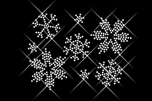 """Luxflair© Strassstein Motiv """"Schneeflocken"""", XXL Strass Motiv ca. 12,4 x 9,1cm groß inkl. Anleitung"""