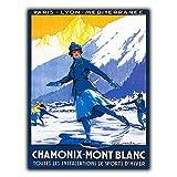 Mr.sign Chamonix-Mont Blanc Blechschilder Vintage Metall