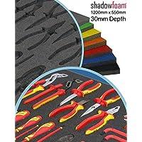 Espuma de sombra gris – herramienta gris/caja de protección de vuelo, gris