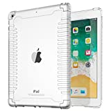 TiMOVO iPad 9.7 2018/2017 Shockproof Case - Lightweight Impact Resistant Flexible Soft Transparent TPU Protective Shell