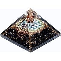 Schwarz Turmalin Orgonit Pyramid/Reiki Crytsal Pyramiden zur Heilung und Chakra Home Dekoration 65mm mit Tasche preisvergleich bei billige-tabletten.eu