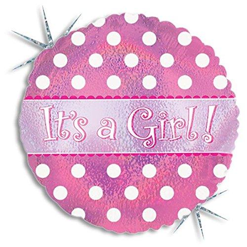 Bargain Balloons Globo Mylar con scitta IT 's a Girl y Lunares, Color Rosa, 114042