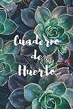 Cuaderno de Huerto: Libreta con 110 Páginas | Incluye Plano del Huerto, Ficha de Cultivos, Calendario... | Regalo Perfecto para Aficionados a la Jardinería o Agricultura