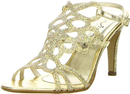 Vista Damen Sandaletten Glitzeroptik gold, Größe:41;Farbe:Gold