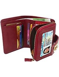 WACCET Carteras Piel Mujer Bloqueo RFID Monedero de Piel con Cremallera, Billetera de Mujer con 12 Tarjetas, Cartera de Cuero de Mujer Pequeño